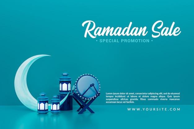 Ramadan sale islamitische ceremoniële 3d render