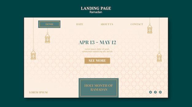 Ramadan websjabloon met getekende elementen