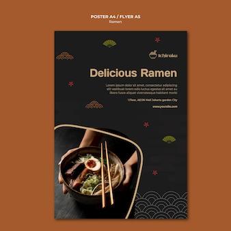 Ramen concept poster sjabloon