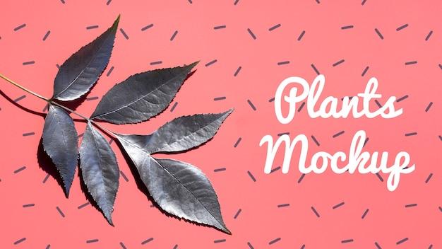 Ramo realistico con foglie mock-up