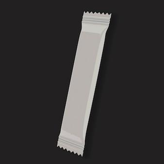 Rappresentazione 3d del modello 3d della bustina del bastone di cioccolato