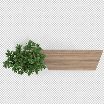 Rappresentazione isometrica della pianta 3d