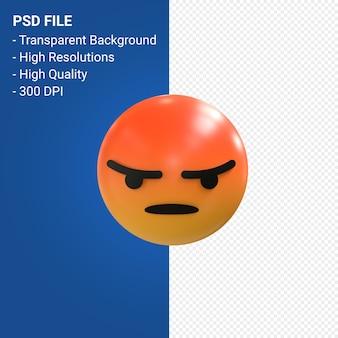 Reacciones de emoji 3d de facebook como aislado