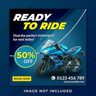 Ready to ride instagram post feed template premium
