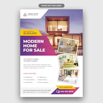 Real estate flyer-ontwerp