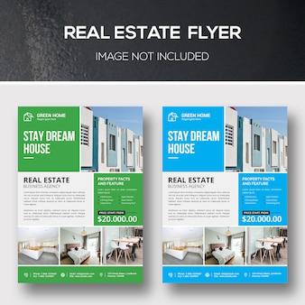 Real estate flyer-sjabloon
