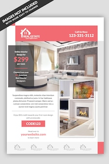 Real estate interior flyer