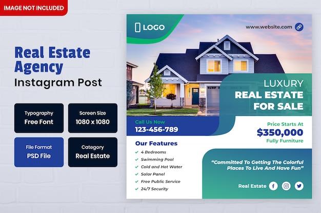 Real estate social media post-sjabloon