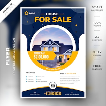 Realestate flyer-sjabloon