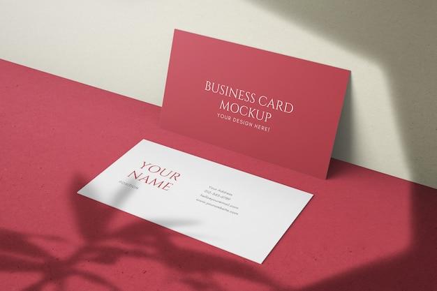 Realista hermosa plantilla de maqueta de tarjeta de visita de tamaño estadounidense