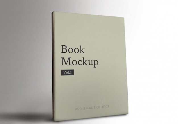 Realistico cover book mockup w