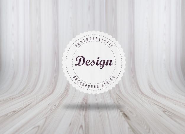 Realistico disegno texture di sfondo woodboard
