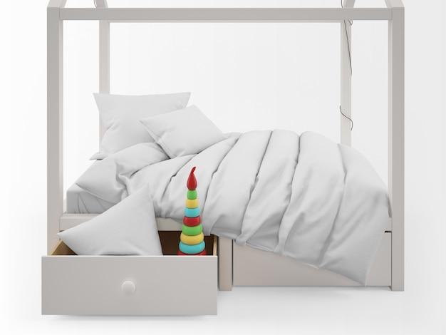 Realistico lettino per bambini carino a forma di casa