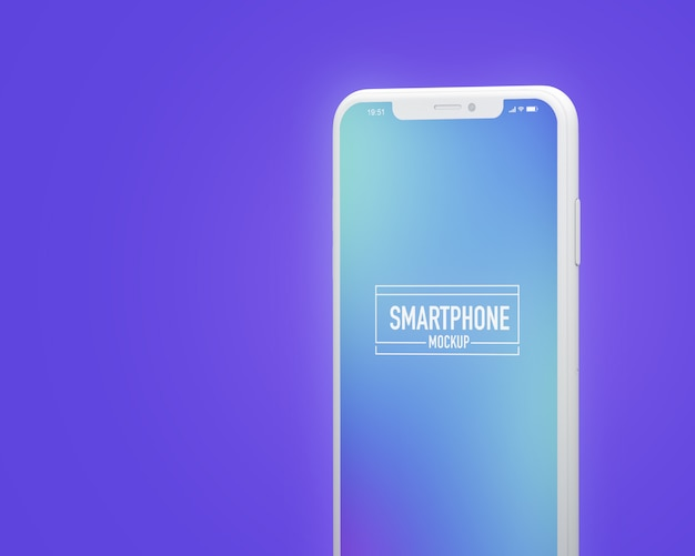 Realistico smartphone mockup. pulisca il modello dello smartphone