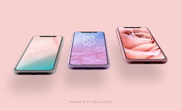 Realistisch 3d-smartphonemodel