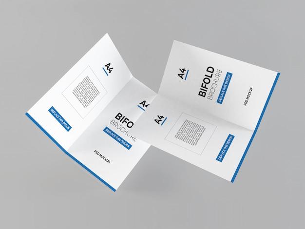 Realistisch a4 tweevoudig brochuresmodel