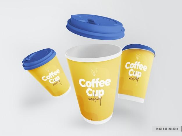 Realistisch afhaalmaaltijden koffiekopje mockup
