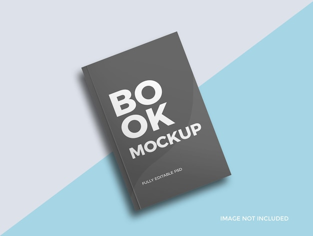 Realistisch boekomslag mockup-ontwerp
