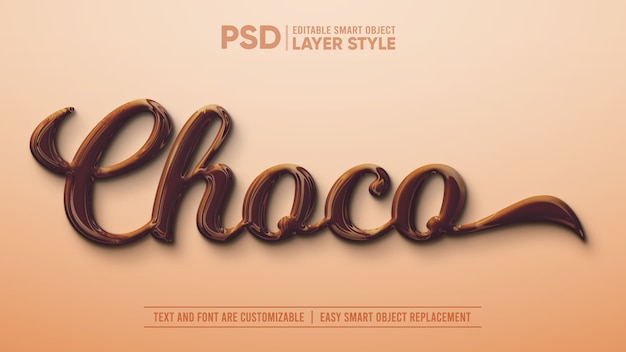 Realistisch dark chocolate smart object layer-effect