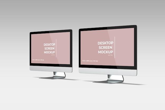 Realistisch desktopschermmodel