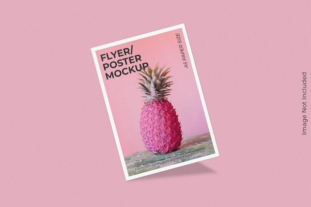 Realistisch flyer-brochuremodel met schaduwoverlay