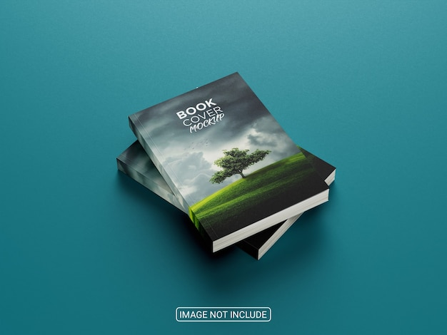 Realistisch geweldig boekomslagmodel