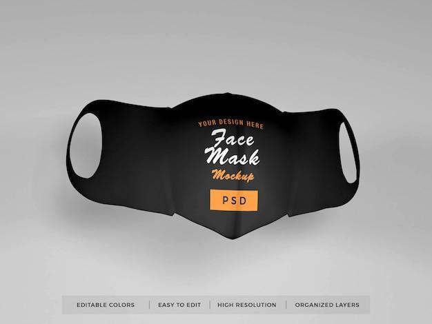 Realistisch gezichtsmasker mockup