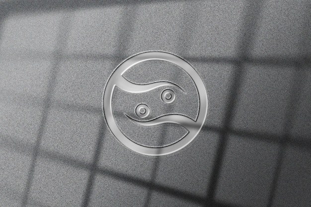 Realistisch glanzend metalen logo-model