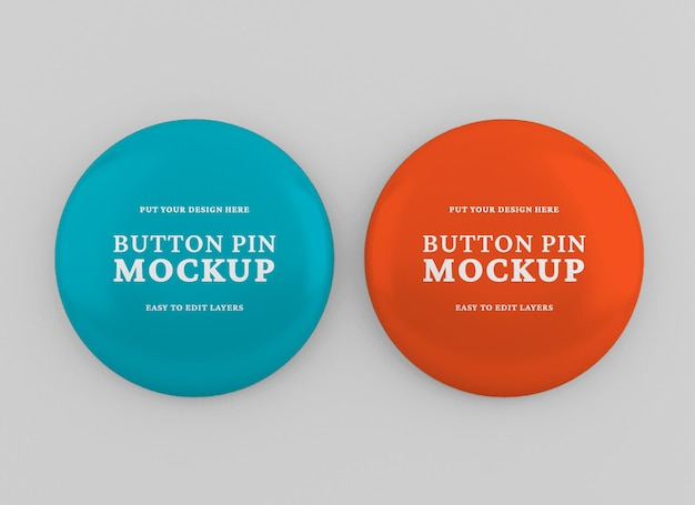 Realistisch glanzend pin- of badgemodel
