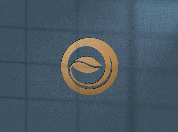 Realistisch gouden logo mockup-ontwerp