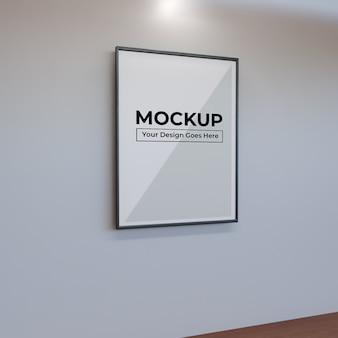 Realistisch groot frame voor mockup met fotokunst