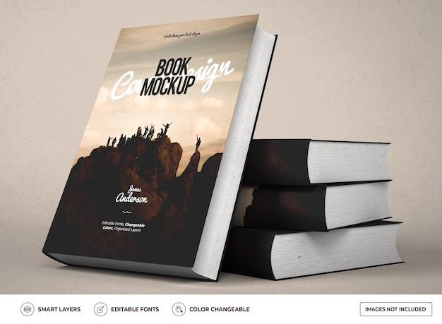 Realistisch hardcover boekmodelontwerp