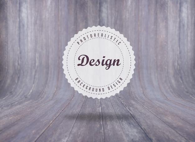 Realistisch hout achtergrond ontwerp