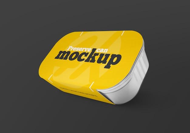 Realistisch ingeblikt metalen verpakkingsmodel