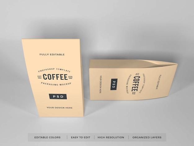 Realistisch koffieverpakkingsmodel