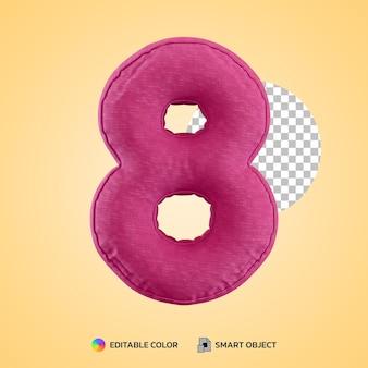 Realistisch kussen nummer acht 8 vorm