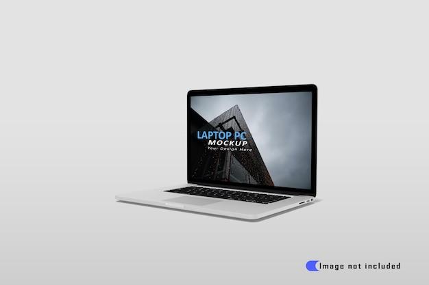 Realistisch laptopmodel premium psd