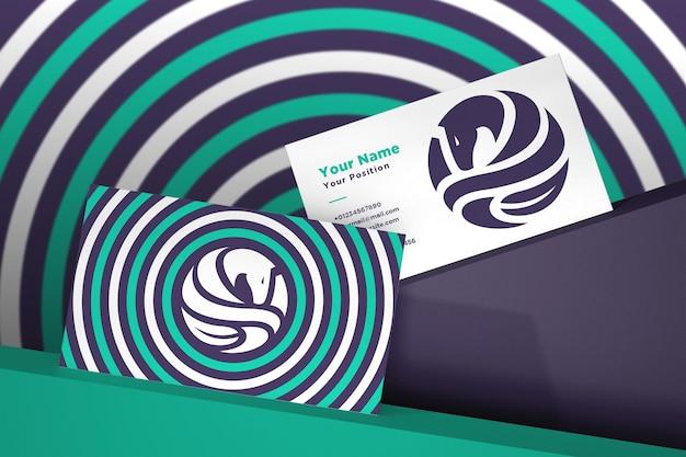 Realistisch logo en visitekaartje mockup