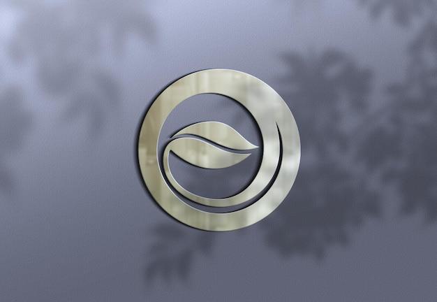 Realistisch luxe logo mockup-ontwerp