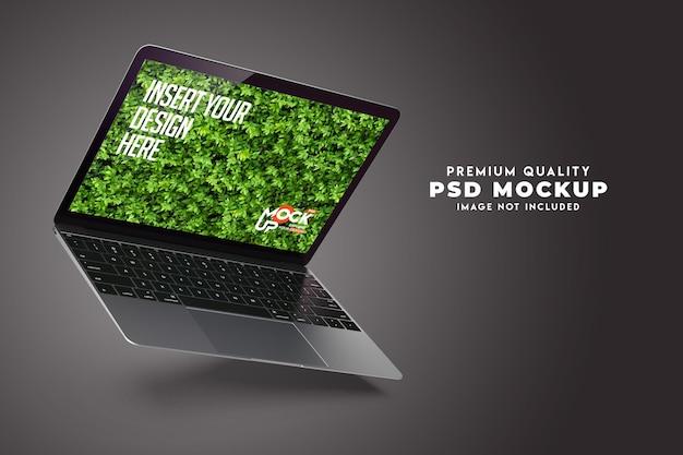Realistisch mock-upontwerp voor laptopscherm