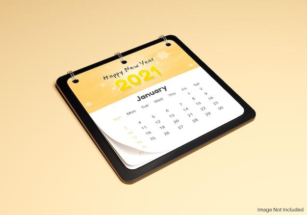 Realistisch mockup voor kalendernotities