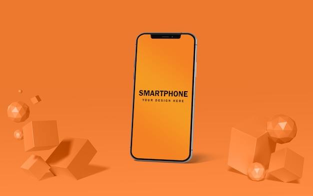 Realistisch mockup voor smartphonescherm gratis psd