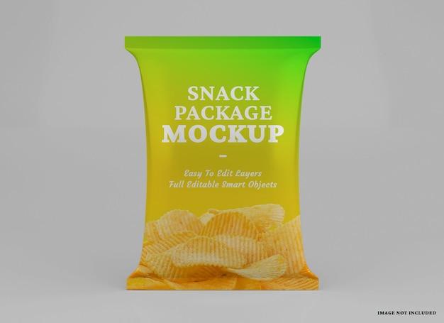 Realistisch mockupontwerp voor snackverpakkingen geïsoleerd