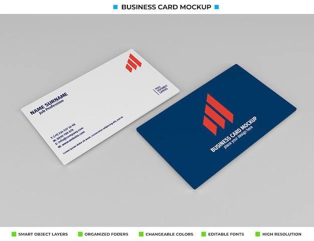 Realistisch papieren visitekaartje mockup-ontwerp