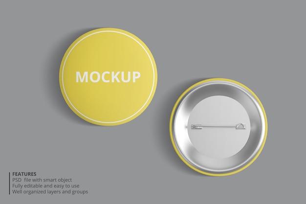 Realistisch pin mockup-ontwerp