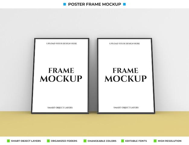 Realistisch poster of fotolijstmodel