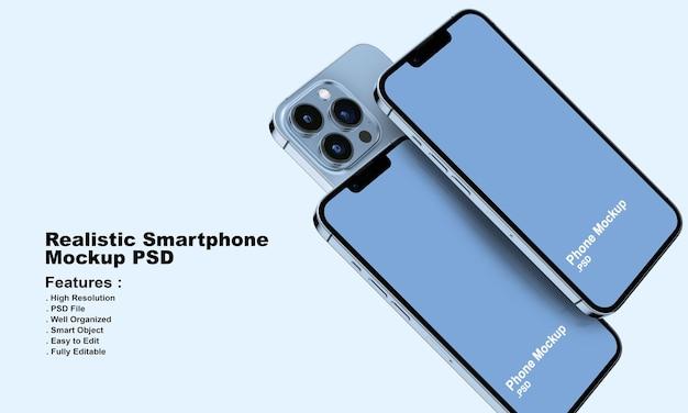 Realistisch premium smartphonemodel