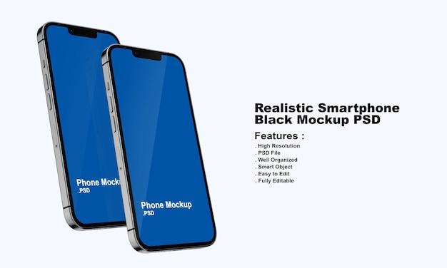 Realistisch premium zwart smartphonemodel