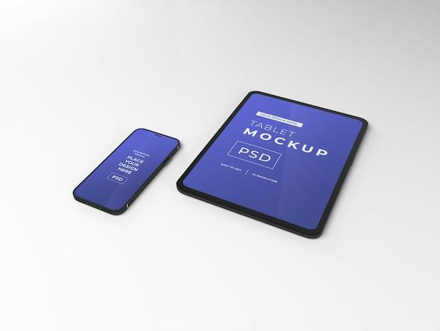 Realistisch smartphone- en tabletmodel