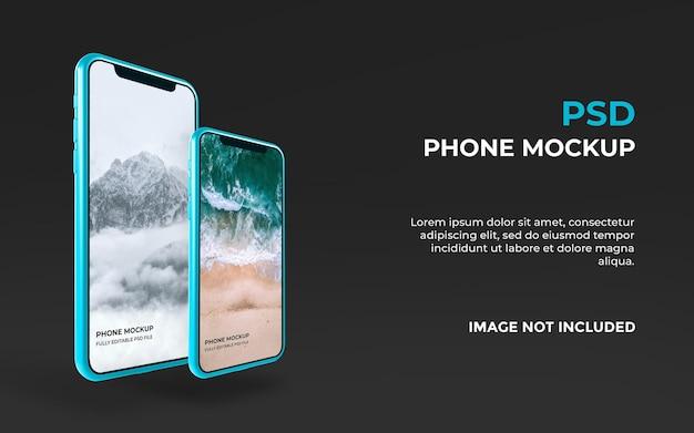 Realistisch smartphone-mockupontwerp